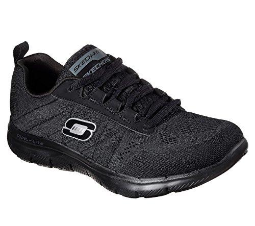Skechers Flex Appeal - Sweet Spot, Walking, Black, 7.5 W US