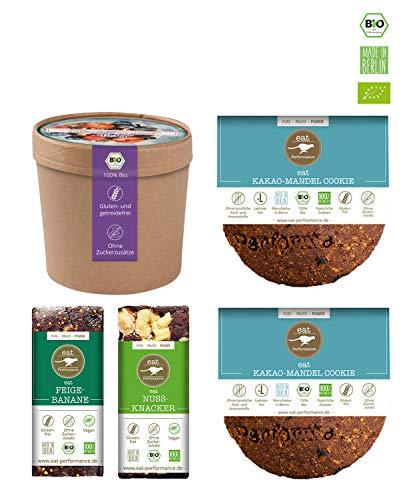 eat Performance® Schoko Box (2 Cookie, 2 Riegel, 1 Müsli) - Bio, Paleo, Ohne Zuckerzusätze Aus 100{6b9b98763cc3398cb097eec1e701cb338e2e781c78ea48de5aee6f1b63e62d90} Natürlichen Zutaten