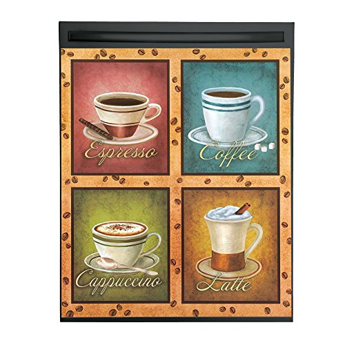 Cafe Coffee Cups Dishwasher Magnet Cover