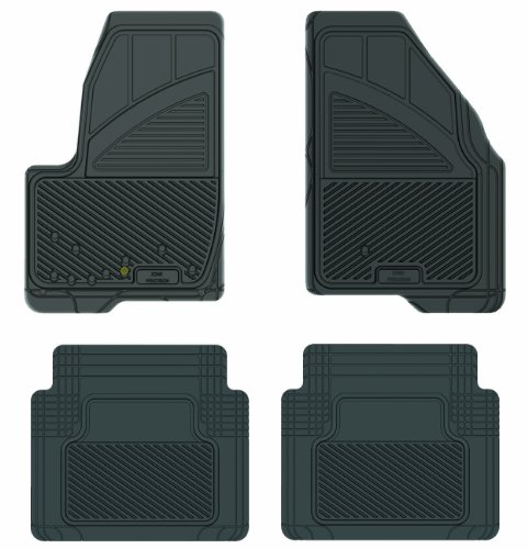 Koolatron Pants Saver Custom Fit 4 Piece All Weather Car Mat for Select Ford Freestyle Models (Black)