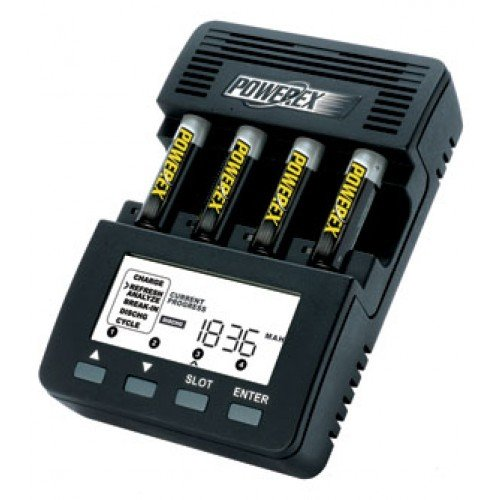 Powerex MH-C9000 12V - Cargador para 4 pilas AA o AAA