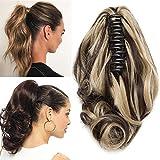 TESS Pferdeschwanz Haarteil Ponytail Extensions Haarverlängerung Clip in Synthetik Haare