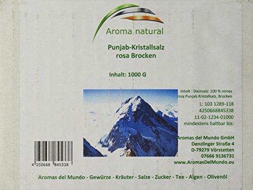 Aroma natural Rosa Punjab-Kristallsalz Brocken 1 kg, 1er Pack (1 x 1 kg)