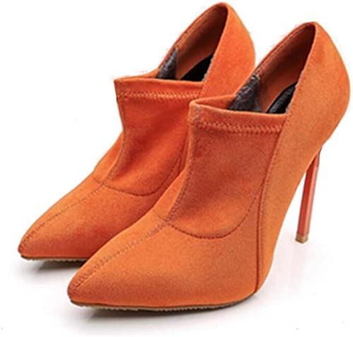 Femmes Pompe 12.5cm Stiletto Bout Pointu Toe Robe Chaussures De Mariée De Charme Charme Couleur Pure Bottes Cour Escarpins Parti Chaussures Eu Taille 33-45