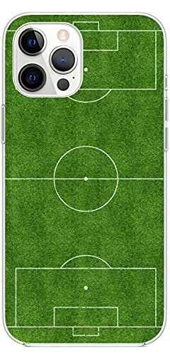 Mixroom - Cover Custodia per iPhone 12 in Silicone TPU Fantasia Campo da Calcio 127