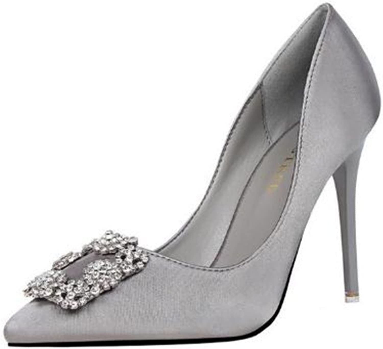 Pit4tk Women's Slip On Pointed Toe High Heels Pumps Dress shoes Work High Heel
