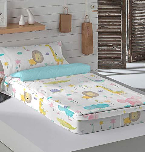 ICEHOME Saco nórdico con Relleno Baby Safari Cama 90 cm