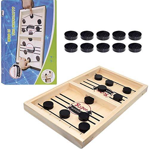 WELLXUNK Gioco da Tavolo da Hockey Tavolo Desktop Gioco di Hockey su Ghiaccio Classico Battle Giochi da Tavolo Giochi da Tavolo per Adulti Bambini Festa a Casa Giochi Interattivi Giocattoli (Small)