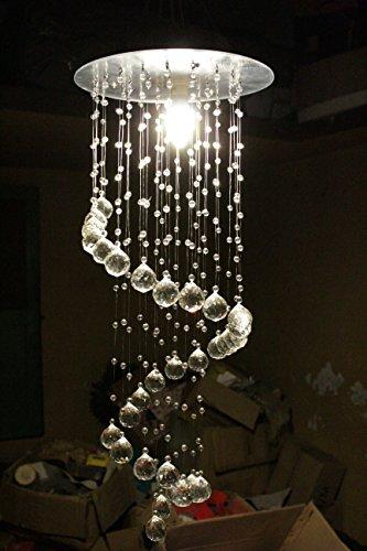 Discount4product Spiral-27 Modern Ceiling Light Fixture (Transperent)