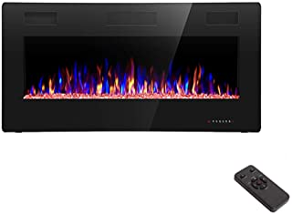 R.W.FLAME 36 inch Recessed and Wall Mounted Electric Fireplace, Ultra Thin ad Low Noise,..