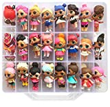 HOME4 LOL Double Sided Storage Container - No BPA - Organizer Case - 48 Compartments - Compatible with Dolls LOL lils, Pets, Surprise Tiny Toys, Shopkins, Accessories, Beads, Crafts (Clear)
