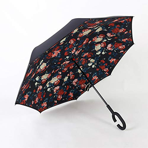 no logo YYouRuiThe New Umbrella is Available with C-Type Handle, Hands-Free Reverse Umbrella