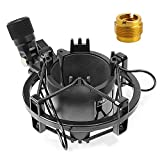 SUNMON AT2020 Shock Mount, Shock Mount Stand Reduces Vibration Noise for Audio Technica AT2020 AT2035 AT4040 AT2020USB ATR2500x Condenser Micphone