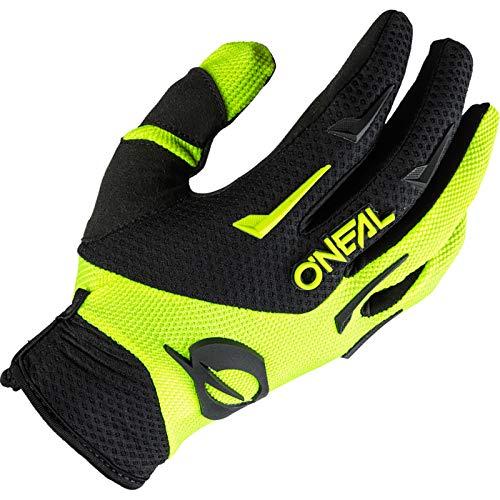 O'NEAL | Guanto Bike Motocross | MX MTB DH FR Downhill Freeride | Durevole, materiali flessibili, palmo ventilato | Element Glove | Bambini | Nero Giallo Neon | Taglia XL