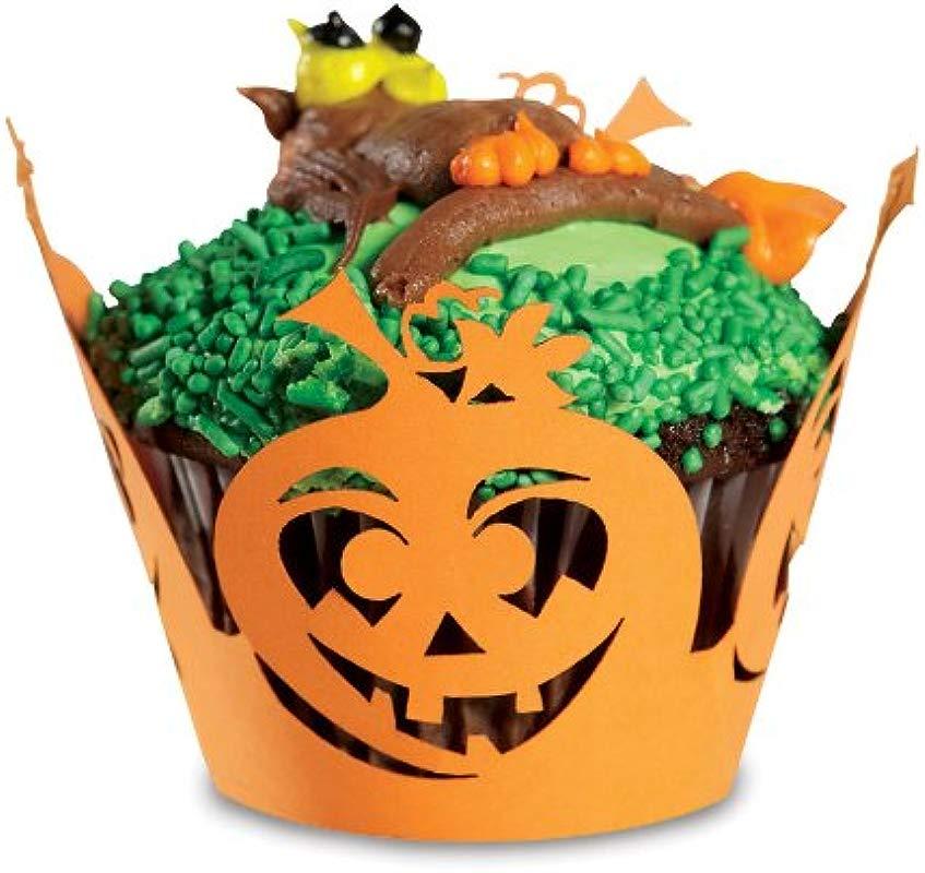 Fox Run Brands 7153 Halloween Pumpkin Cupcake Wrappers One Size Orange