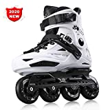 Outdoor Sport Pattini in Linea per Adulti Carbonio Rollerblade Professionale Pattini a Rotelle Pattini Comodi Scarpe Speed Skating Ldeali per Principianti per Le Donne e Uomo white-43