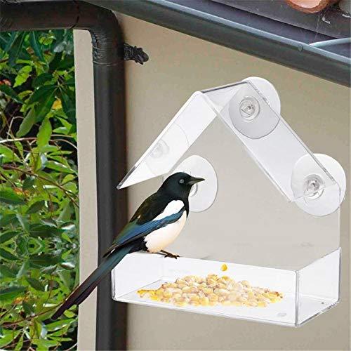 MM Acrylique Transparent Oiseau écureuil bac d'alimentation fenêtre Birdhouse Outils Ventouse