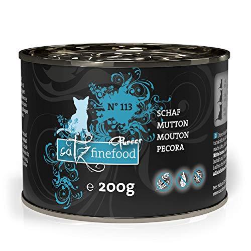 catz finefood Purrrr Schaf Monoprotein Katzenfutter nass N° 113, für ernährungssensible Katzen, 70% Fleischanteil, 6 x 200g Dose
