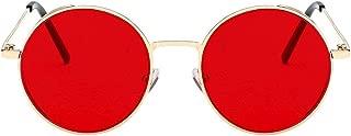 M.I.OPTICALS Round Unisex Sunglasses (115, Red)