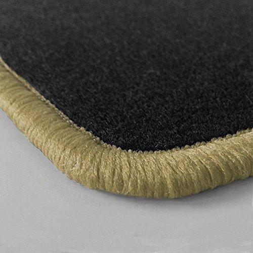 Randfarbe nach Wahl ! Passgenaue Fußmatten aus Nadelfilz mit dunkelbeigem Rand (308) für Daihatsu Feroza Baujahr1989-1999