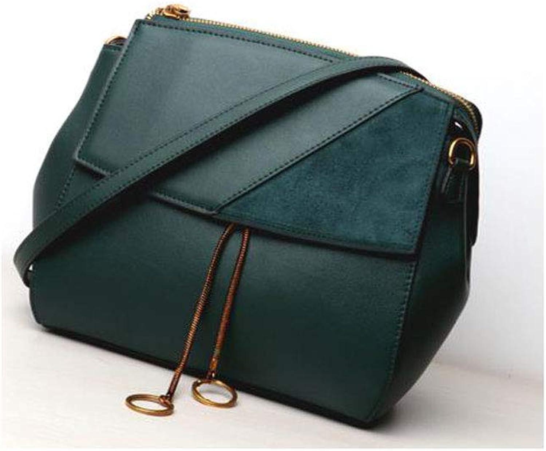 Damen Leder Top-Griff Frauen Umhängetasche Mode Handtaschen für Mädchen Klappe mit Schloss Verschluss Umhängetasche (Farbe   Grün) B07GPN1DPL