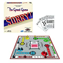 """Relive the fun: The game of """"sorry"""" delighted players everywhere When introduced in the 1930's. Sorry"""" Is fun to play, and easy to learn. The rules in this game are the same as the 1939 Us version! The object: move the 4 pawns under your control from..."""
