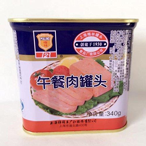 午餐肉(方缶) ランチョンミート 味付け豚肉 缶詰食品 中華食材 340g