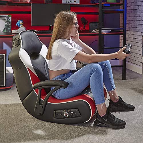 X Rocker V Rocker 5130301 SE Video Gaming Chair, Wireless, Black with Grey