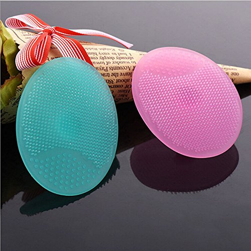 Price comparison product image Face Scrubber Cleaner Face - Facial Exfoliating Brush Infant Baby Soft Silicone Wash Face Cleaning Pad Skin SPA Scrub Cleanser Tool - Silicone Face Scrubber