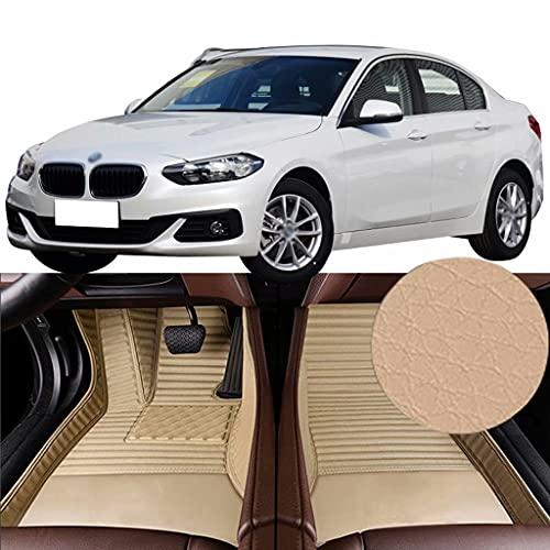 QCYP Alfombrillas para Coches Adecuado para BMW Serie 1 118i (sin función de teléfono/neumático: 225/45 R17 / Control Manual del Aire Acondicionado) 2018 Alfombrillas de Auto,LHD