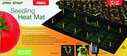 Jump Start 9quot x 19 1/2quot Waterproof Seedling Heat Mat