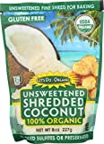 Unsweetened coconut flakes Finely shredded for baking 100% natural with no preservatives