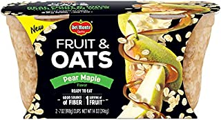 Del Monte Fruit and Oats Snack Cups, Pear Maple, 7-Ounce Cups, Pack of 2