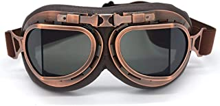 evomosa Motorcycle Goggles Vintage Pilot Style Cruiser Scooter Goggle Outdoor Sand Goggles Bike Racer Cruiser Touring Eyew...