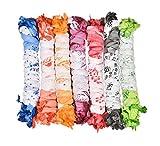 Nakoda Creation Women's Dupatta (Pack of 7) (Cotton Printed_Multicoloured_OS)