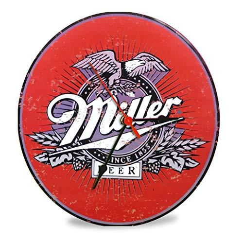 The Shizzle Print Co Miller Beer Vintage Reloj de cristal retro