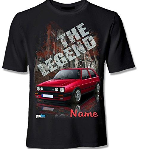 youtex Golf 2 MK2 GTI HIGH Class T Shirt (Black, L)