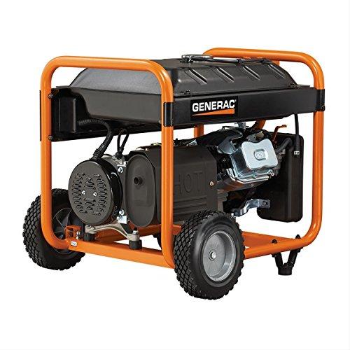 Generac 5978 GP7500E 7500 Running Watts/9375 Starting Watts Electric Start Gas Powered Portable Generator - CSA Compliant
