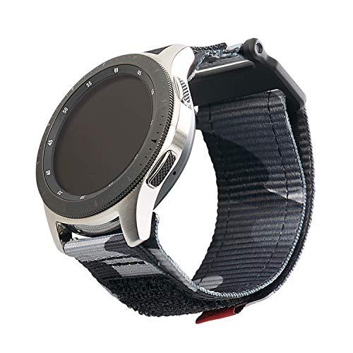 Urban Armor Gear Active Strap Armband Samsung Galaxy Watch3 45mm, Watch 46 mm, Gear S3 Frontier & Classic, Watch Active 2 44 mm (Designed für Samsung Smartwatches, Ersatzband Nylon) - schwarz (camo)