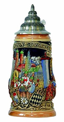 KING Jarra de Cerveza Alemana Munich Oktoberfest, Jarra 1 litro KI 503...
