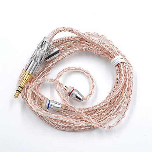 KZ - Cable de cobre y plata (cobre sin oxígeno + núcleo de alta pureza chapado en plata) (KZ ZST ES3 ES4 ZSR ZS10)