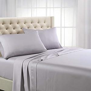 Royal Hotel Bedding ABRIPEDIC Tencel Sheets, Silky Soft and Naturally Pure Fabric, 100% Woven Tencel Lyocell Sheet Set, 3PC Set, Twin-XL Size, Iris
