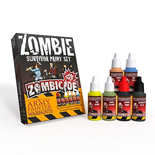 The Army Painter | Survivor Paint Set | 6 Colores para pintar Supervivientes| para Pintura de Modelos Miniatura Zombicide