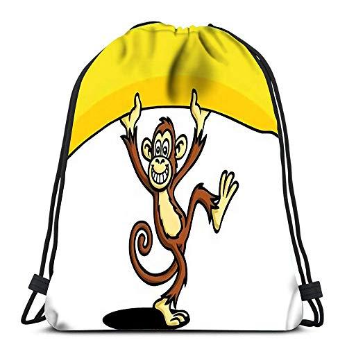 Mochilas con cordón Mochila Mochilas de Viaje Big Banana Mochila Escolar Tote