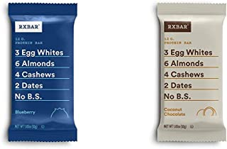 RXBAR, Blueberry, Protein Bar, 1.83 Ounce Breakfast Bar with Coconut Chocolate, Protein Bar, 1.83 Ounce (12 count)