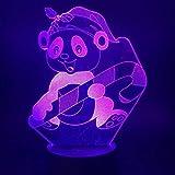 Lollipop bear LED, luz visual 3D decoración creativa lámpara de mesa pequeña acrílico multicolor luz nocturna regalo de cumpleaños para niños