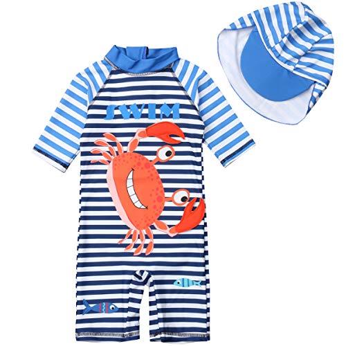 Traje de baño de media manga para bebé con protección solar, protección contra erupciones y…