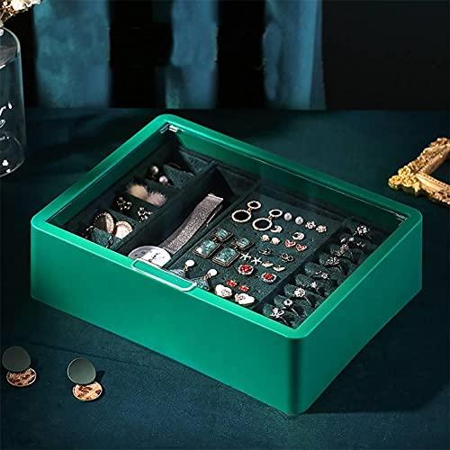 Bract Joyero portátil para mujer, caja de joyería, caja de plástico transparente para collares, pulseras, anillos, pendientes