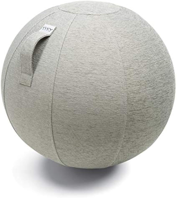 VLUV STOV Stoff-Sitzball, ergonomisches Sitzmbel für Kinder und Erwachsene, Farbe  Concrete (grau),  50cm - 55cm, hochwertiger Mbelbezugsstoff, robust und formstabil, mit Tragegriff