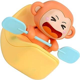 TOYANDONA Baby Bath Toys Wind up Funny Monkey Boat Kayak Figure Clockwork Fun Educational Bath Toy Pool Bath Time for Kids...